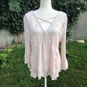 American Eagle Outfitters XL Boho Gypsy Blouse top